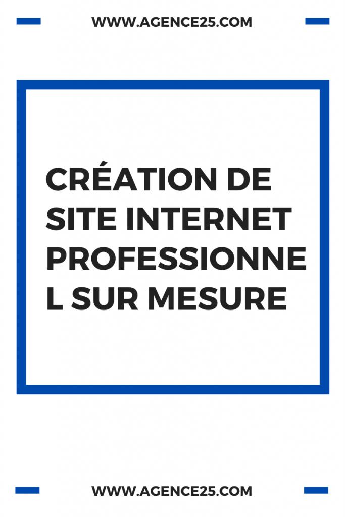 Création de site internet professionnel sur mesure