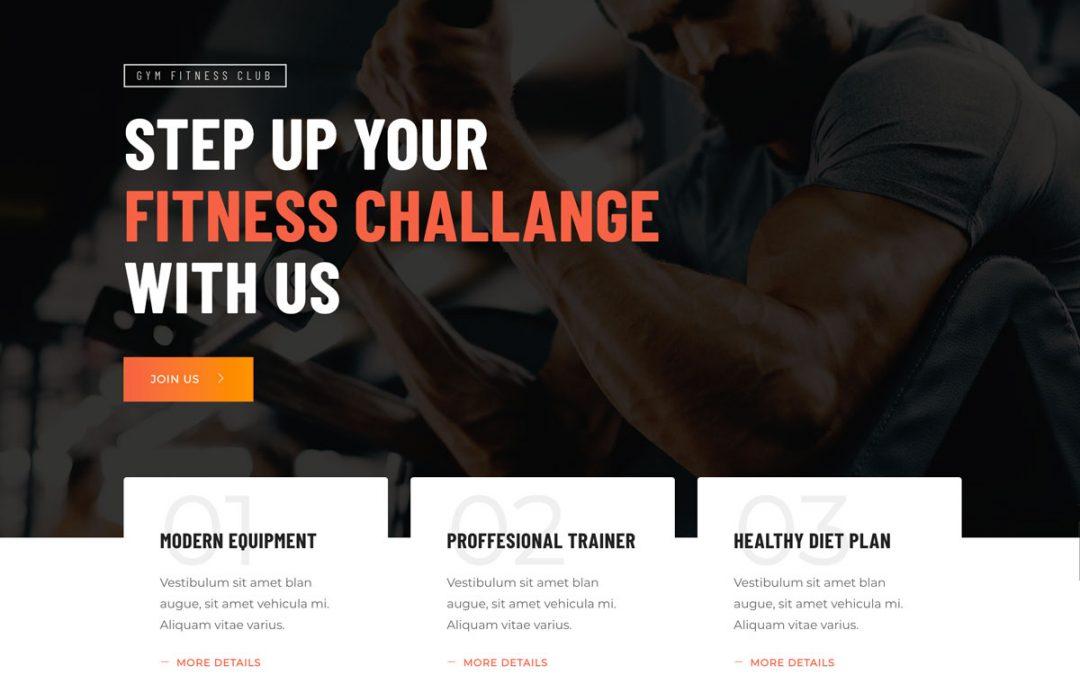 Conceptions de Website de fitness en 2020 et comment améliorer la vôtre