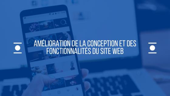 Amélioration de la conception et des fonctionnalités du site Web