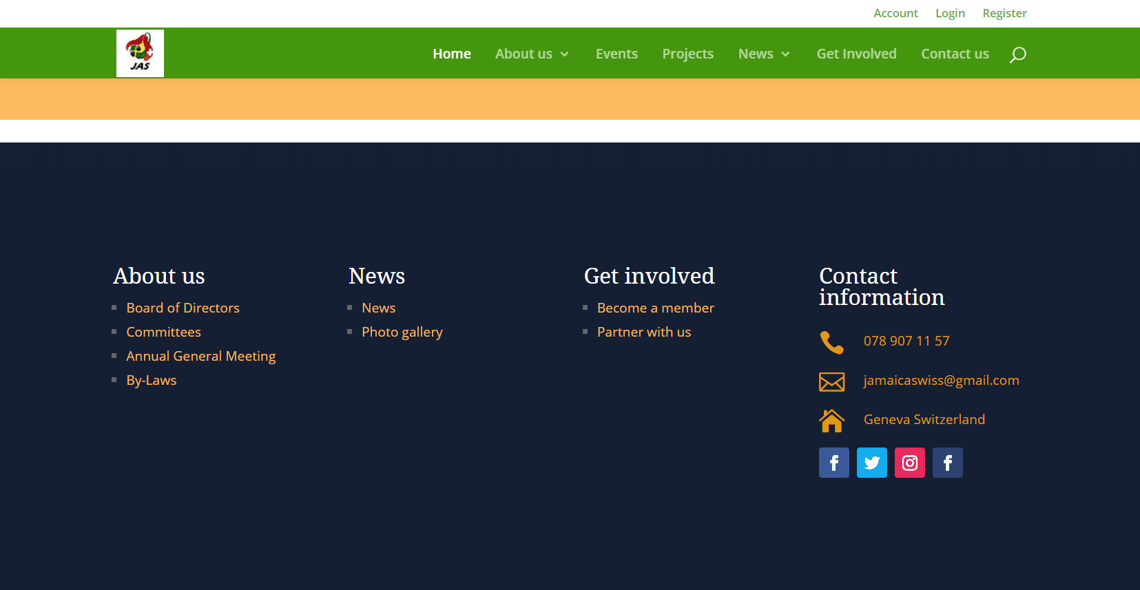 Jamaica Association footer