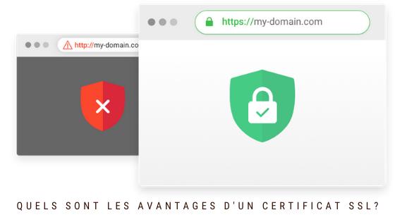 Quels sont les avantages d'un certificat SSL?