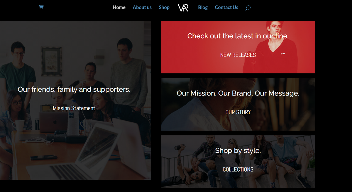 Voracity-Apparel-Homepage-information