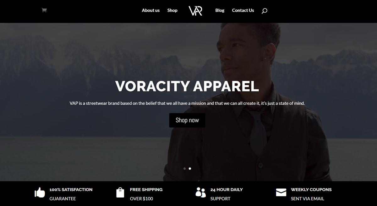 Voracity-Apparel-Homepage
